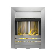 The Helios Electric Fire In Brushed Steel