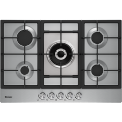 Blomberg GMB83512 75cm Gas Hob - Stainless Steel