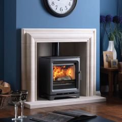 Purevision Black 5Kw Wide Free-Standing Stove