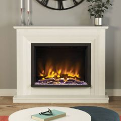 Elgin + Hall 52` Cabrina Pryzm Flat To Wall Electric Fire In White Or Manila