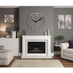 "Elgin & Hall 52"" Cassius ,Pre-Cast flue Suite in White & Grey or White micro marble"
