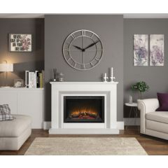 "Elgin & Hall 52"" Cassius Electric Marble Suite in White & Grey"