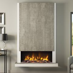 Elgin + Hall Pryzm Camino Electric Chimney Breast With Led Lighting