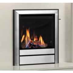 Elgin + Hall 16` Chollerton Gas Fire, Slide Control Burning Logs - In Chrome