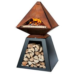 Aduro Prisma - Corten Steel Outdoor Pizza Oven - With Baking Stone Inside