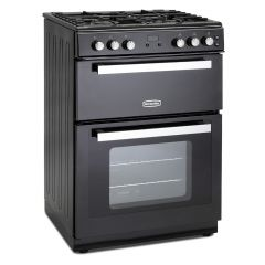 Montpellier RMC61GOK 60cm Gas Mini Range Cooker in Black - Cast Iron Double Oven