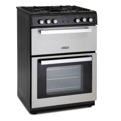 Montpellier RMC61GOX 60Cm Gas Mini Range Cooker In S/Steel Cast Iron Double Oven
