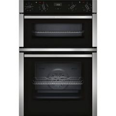 Neff U1ACE2HN0B Electric CircoTherm Double Oven Oven - BLACK/STEEL - A Energy Rated
