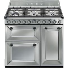 Ex-Display Smeg TR93X Dual Fuel Victoria Range Cooker, Stainless Steel
