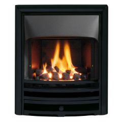 The Aurora HE Gas Fire - Slide Control - Cast Frame Multiple Colours - Coal - Glass Fronted