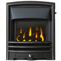 The Lunar Gas Fire - Coal - Slide Control - Cast Iron Fascia