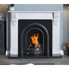 The Kingston 56 Inch Cararra Marble Surround