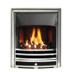 The Aurora Gas Fire - Slide Control - Cast Frame Multiple Colours - Coal - Open Front