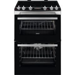 Zanussi ZCI66278XA 60cm Electric Double Oven with Induction Hob - Stainless Steel - A/A Rated